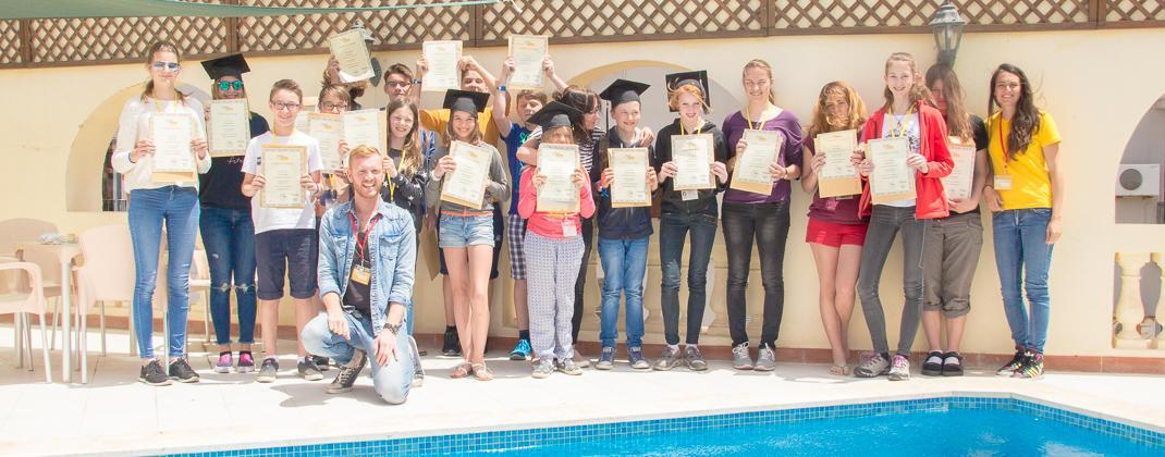 Foto de la graduación del curso