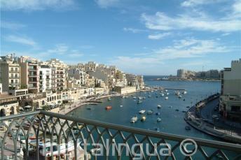 La vista de Spinola Bay desde el Hotel Juliani