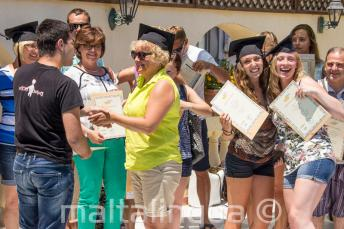 Al finalizar el curso de inglés en Malta los estudiantes reciben un certificado