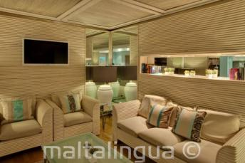 Sala de estar del hotel Juliani