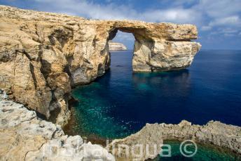 Vistas de la ventana Azul en Gozo