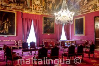Sala del Palacio en Valletta
