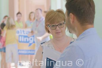 Personal de Maltalingua en la escuela de verano