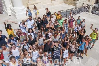 Grupo de estudiantes en Valletta