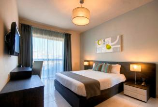 Dormitorio del Hotel argento, Malta