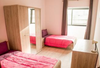 Alojamiento en habitación doble dela escuela de inglés en Malta