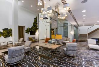 Vestíbulo y sala de estar del Hotel Valentina, St Julians