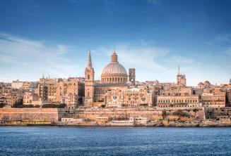 Vista de Valletta desde Sliema Ferry