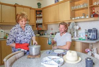 Nuestras familias de acogida ofrecen media pensión