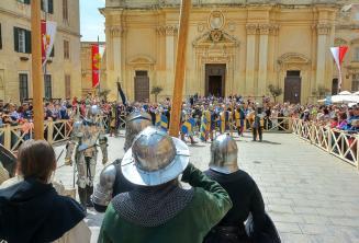 representación de Batalla Medieval Mdina