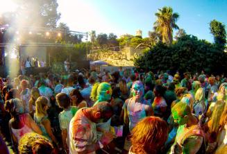 Fiesta de color Holi en Malta