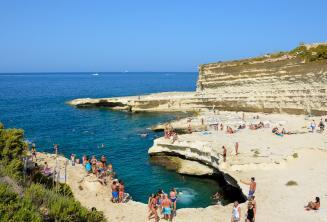Vista de St Peters Pool, Malta